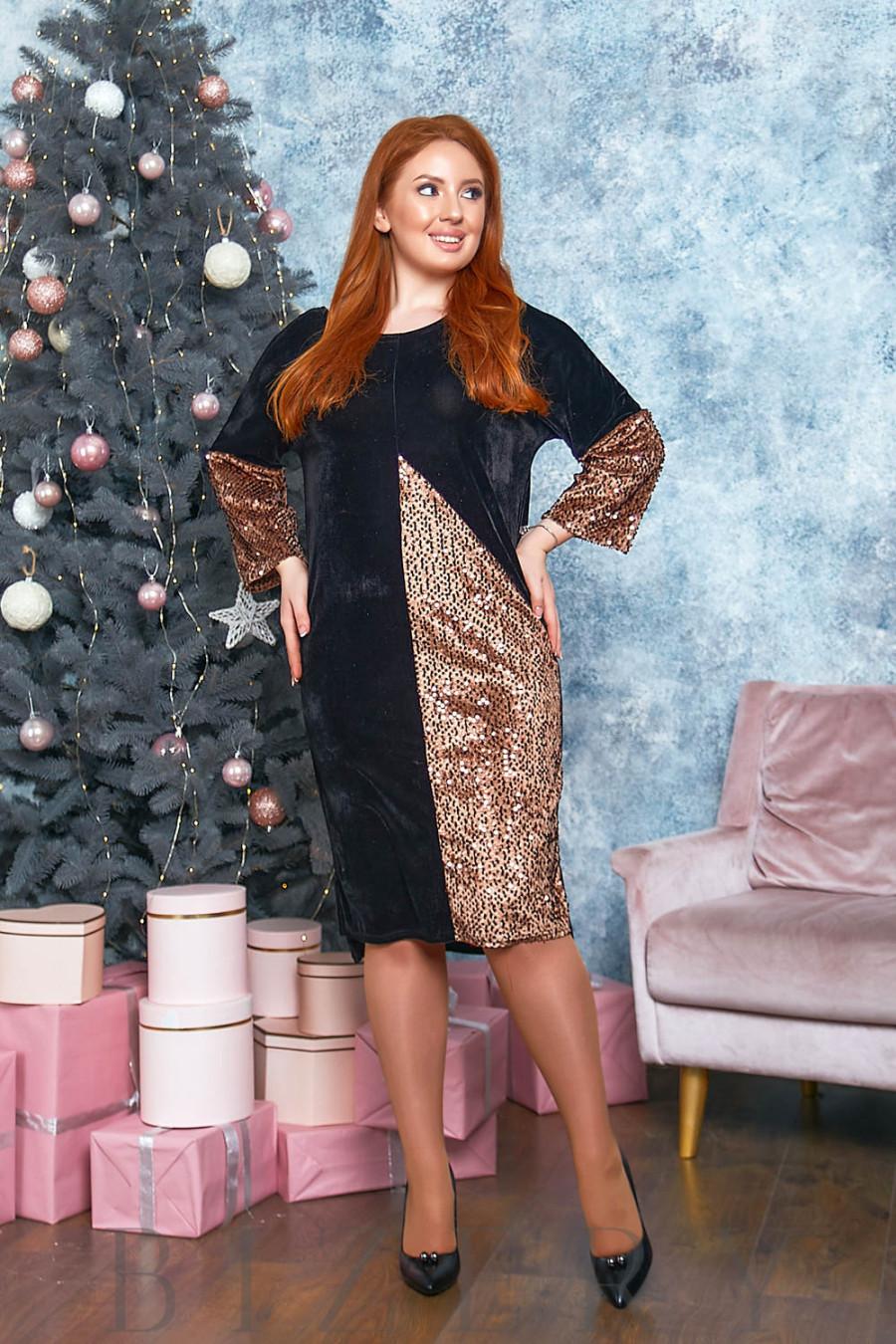 Вечернее бархатное платье B558