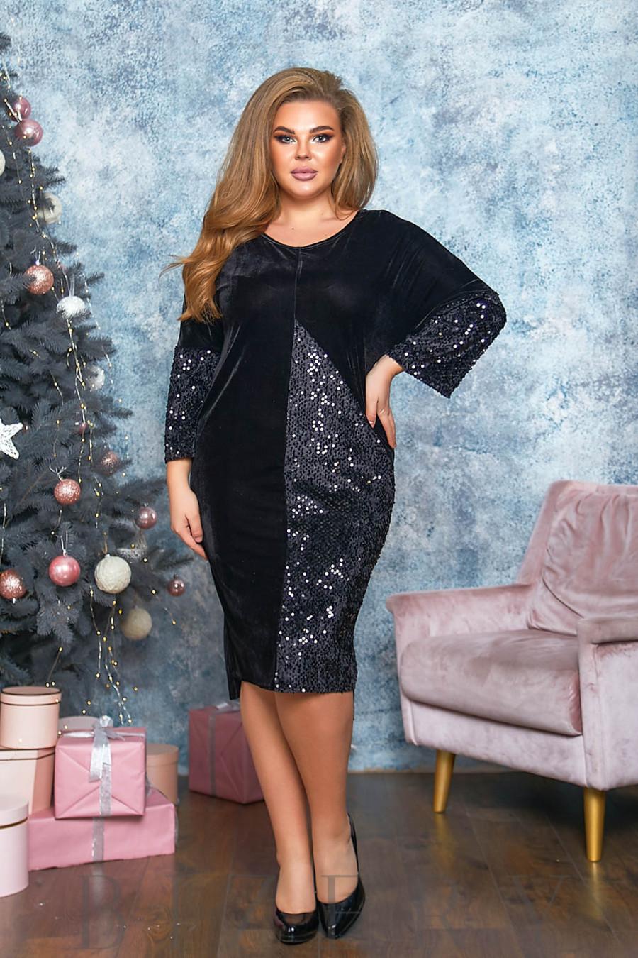 Вечернее бархатное платье B559