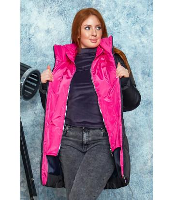 Стильная зимняя куртка в чёрном цвете В567