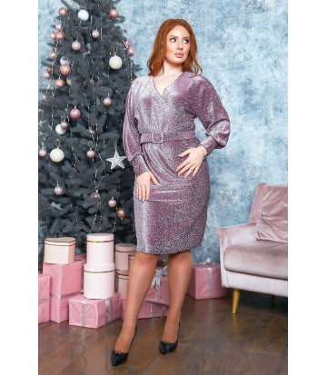 Вечернее платье с имитацией запаха в цвете марсала B519