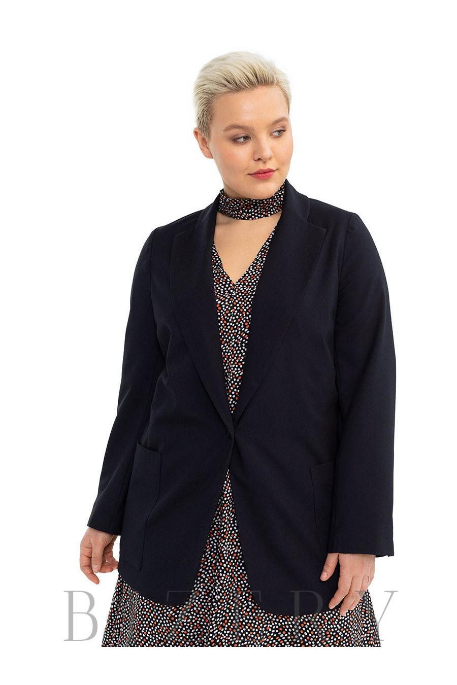 Женский пиджак в чёрном цвете B502