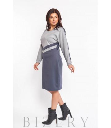 Повседневное трикотажное платье B576