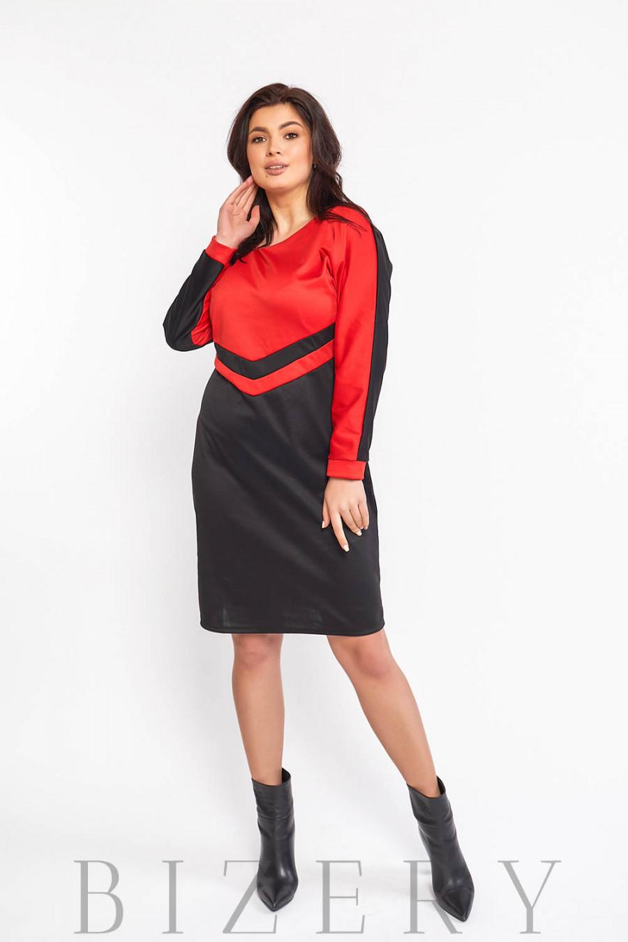 Повседневное трикотажное платье В577