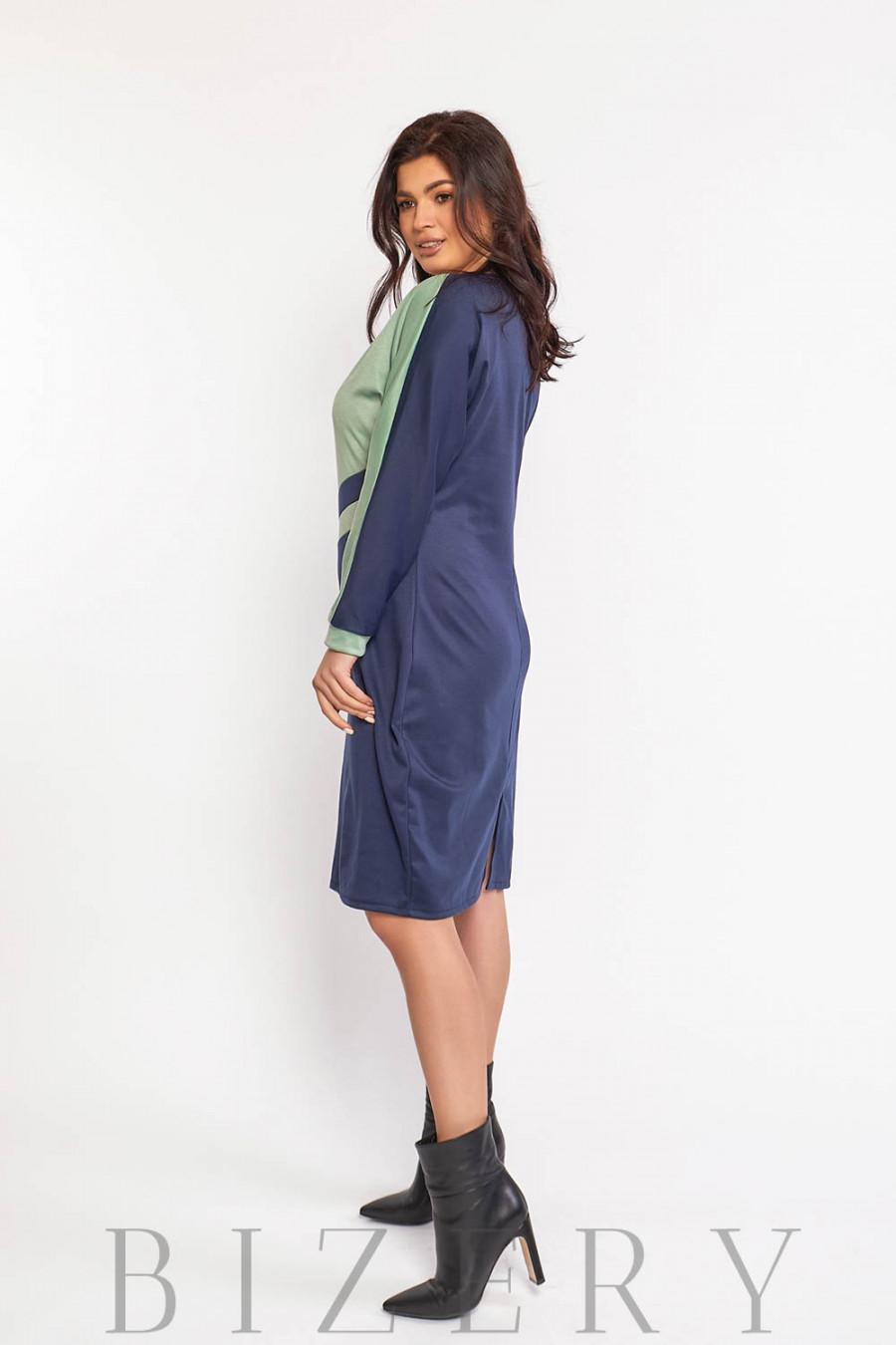 Повседневное трикотажное платье В578