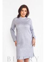 Платье женское из мягкой ангоры в сером цвете В579