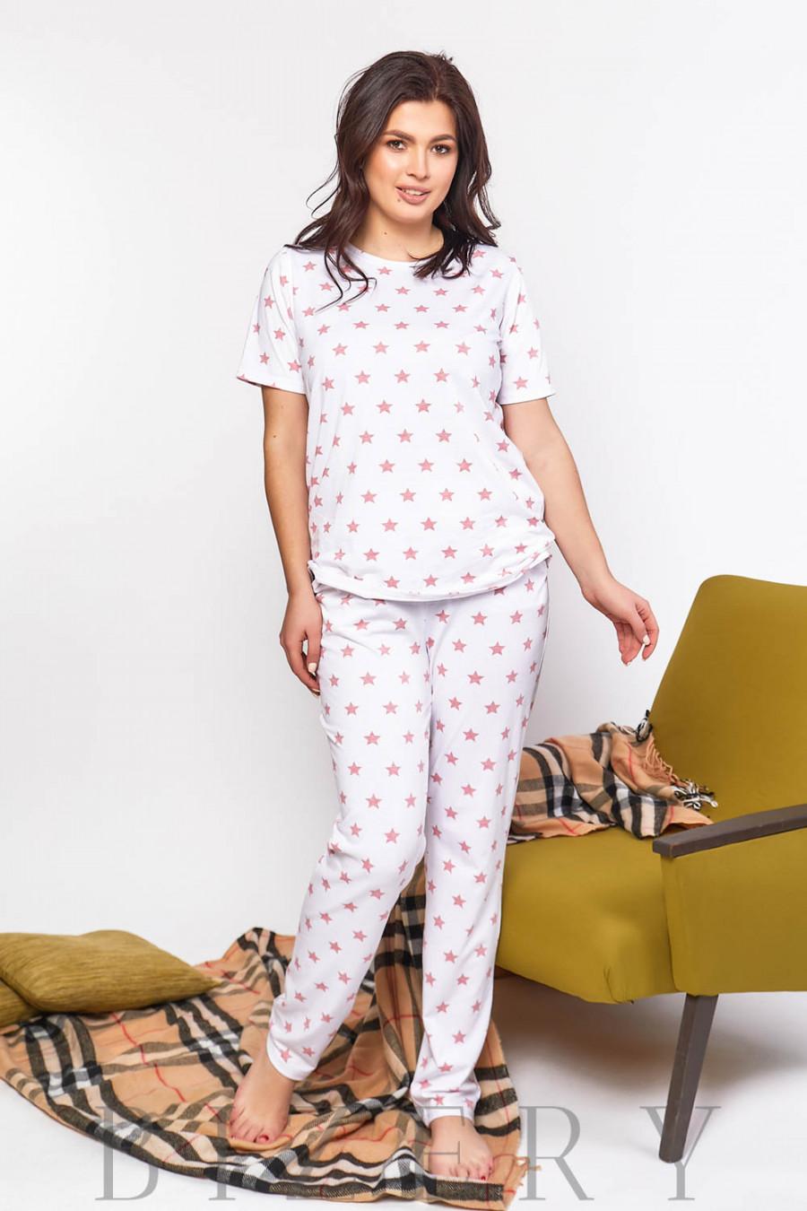 Женская пижама для сна с принтом В598