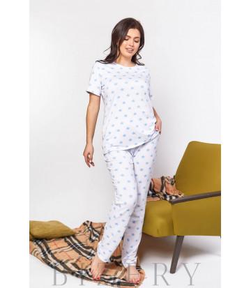 Женская пижама для сна с принтом В599