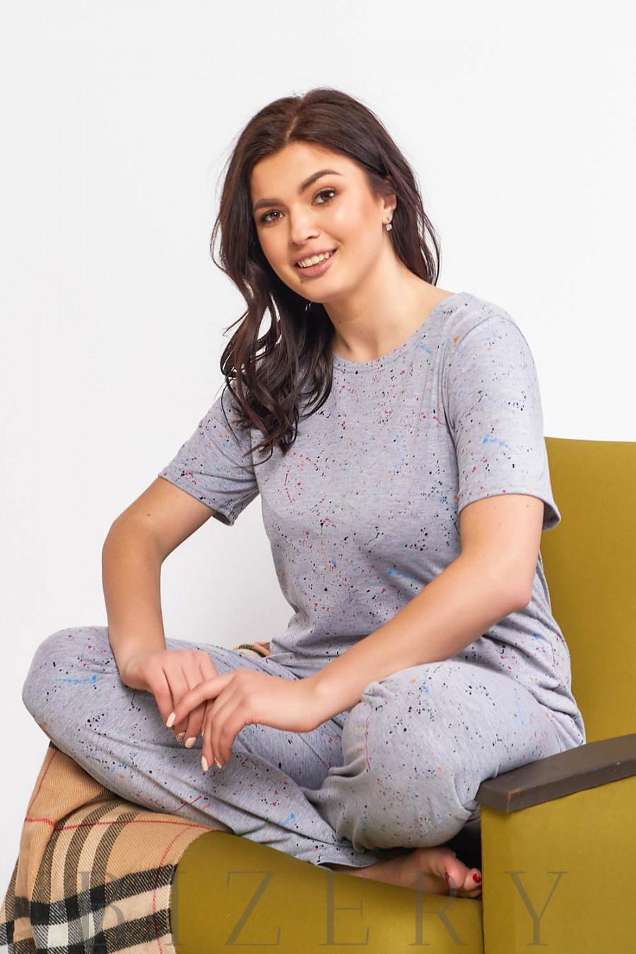 Женская пижама для сна с принтом В600