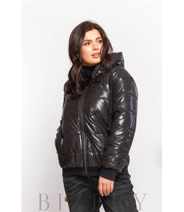 Дутая куртка в чёрной расцветке В609