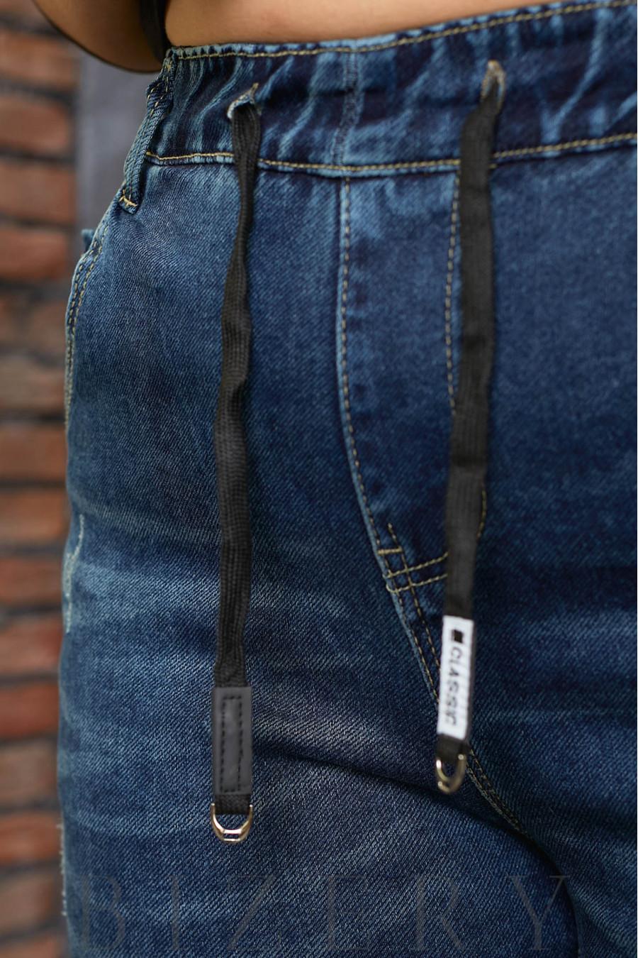 Стрейчевые джинсы  в синем цвете В615