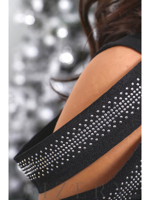 Женское вечернее платье в чёрном цвете B462