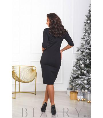 Вечернее платье украшенное пайеткой B466