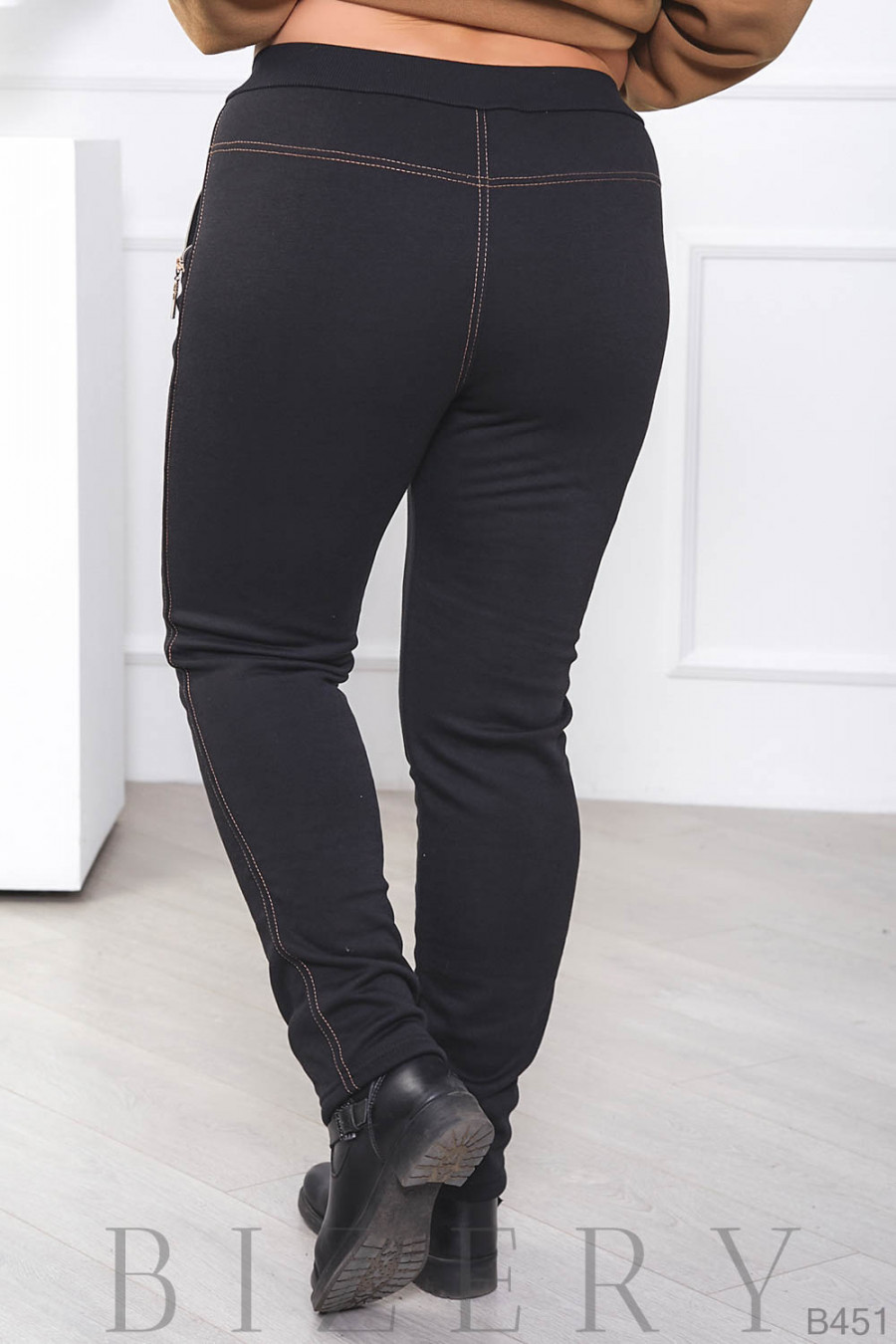 Женские утеплённые штаны большого размера B451