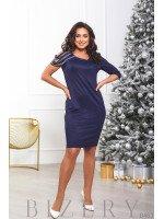Женское вечернее платье в тёмно-синем цвете B463