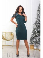 Женское вечернее платье в злёном цвете B464