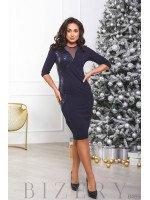 Вечернее платье украшенное пайеткой B465
