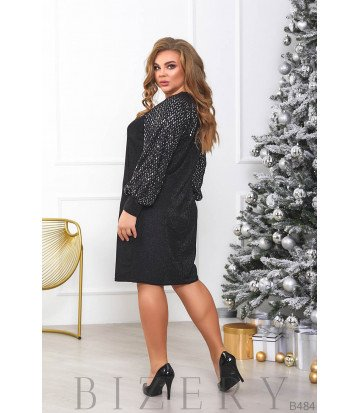 Платье в чёрном цвете B484