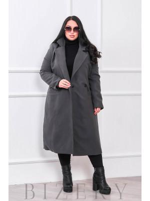 Кашемировое пальто цвет графит В664