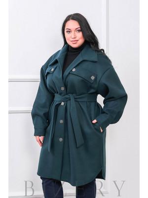 Кашемировое пальто-рубашка В677