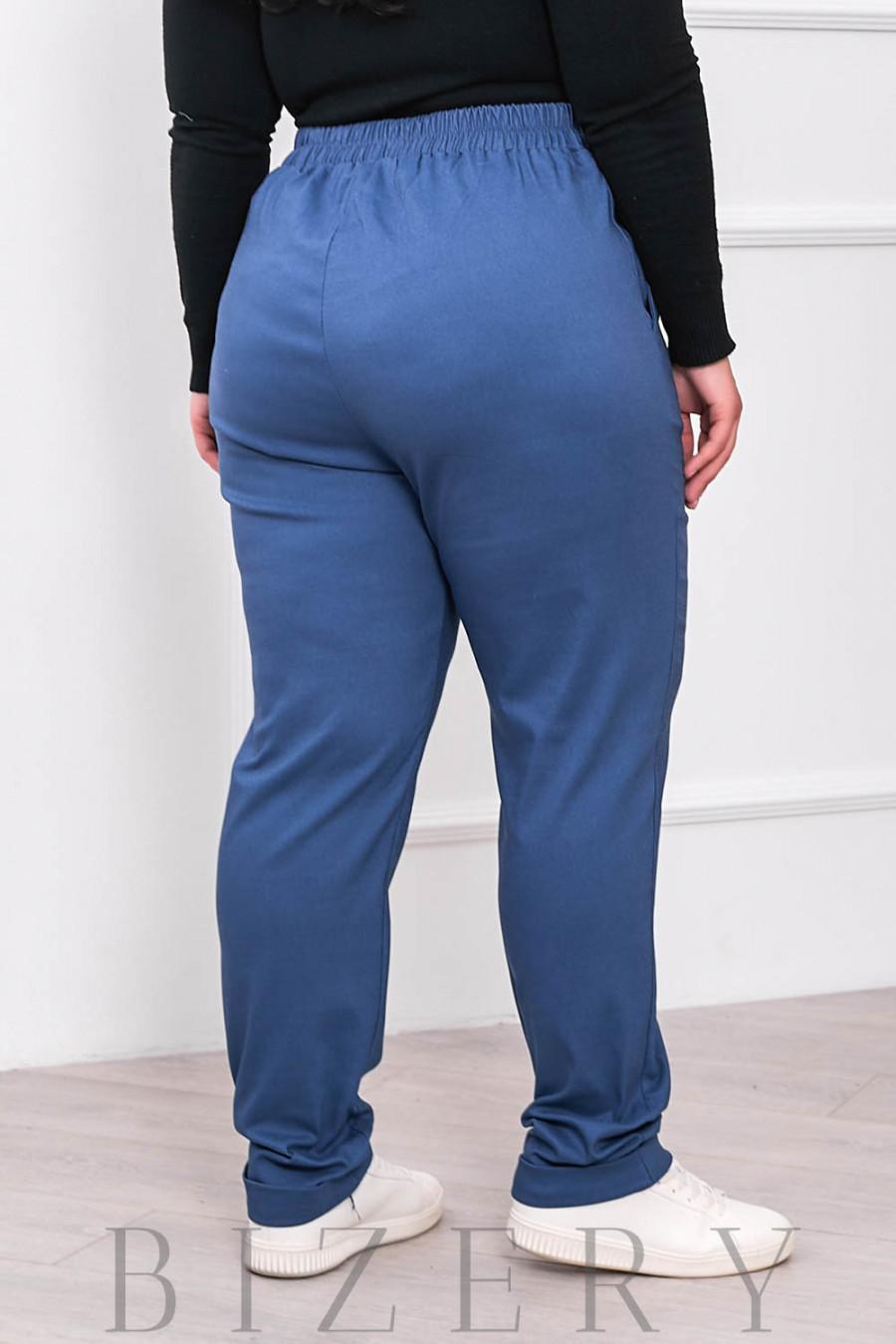 Стрейчевые брюки В678