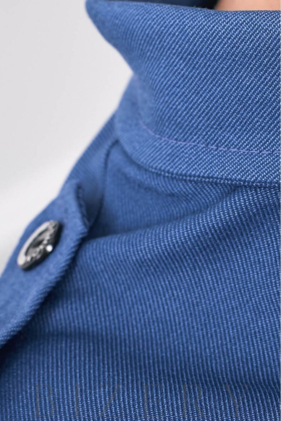 Платье на пуговках цвета джинс В684