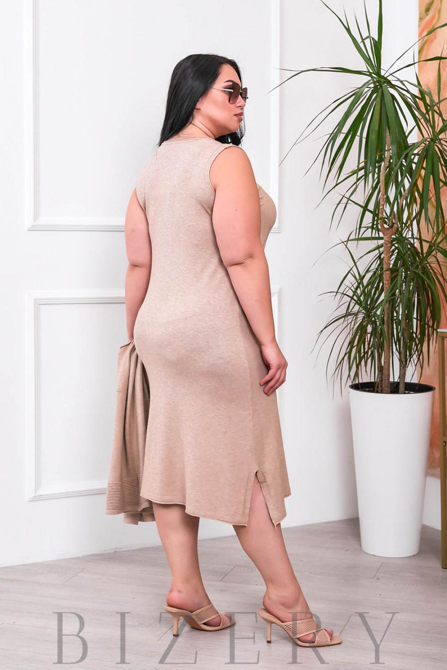 Нежный комплект платье и кардиган В690