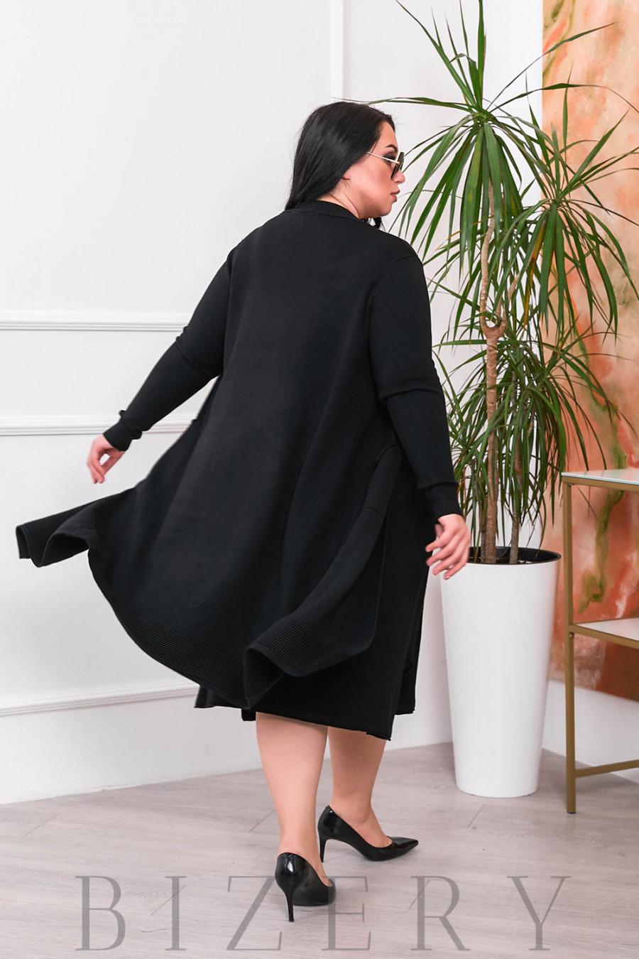 Нежный комплект платье и кардиган В691