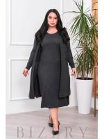 Нежный комплект платье и кардиган В692