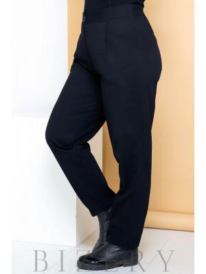Джинсовые брюки бананы черные В710