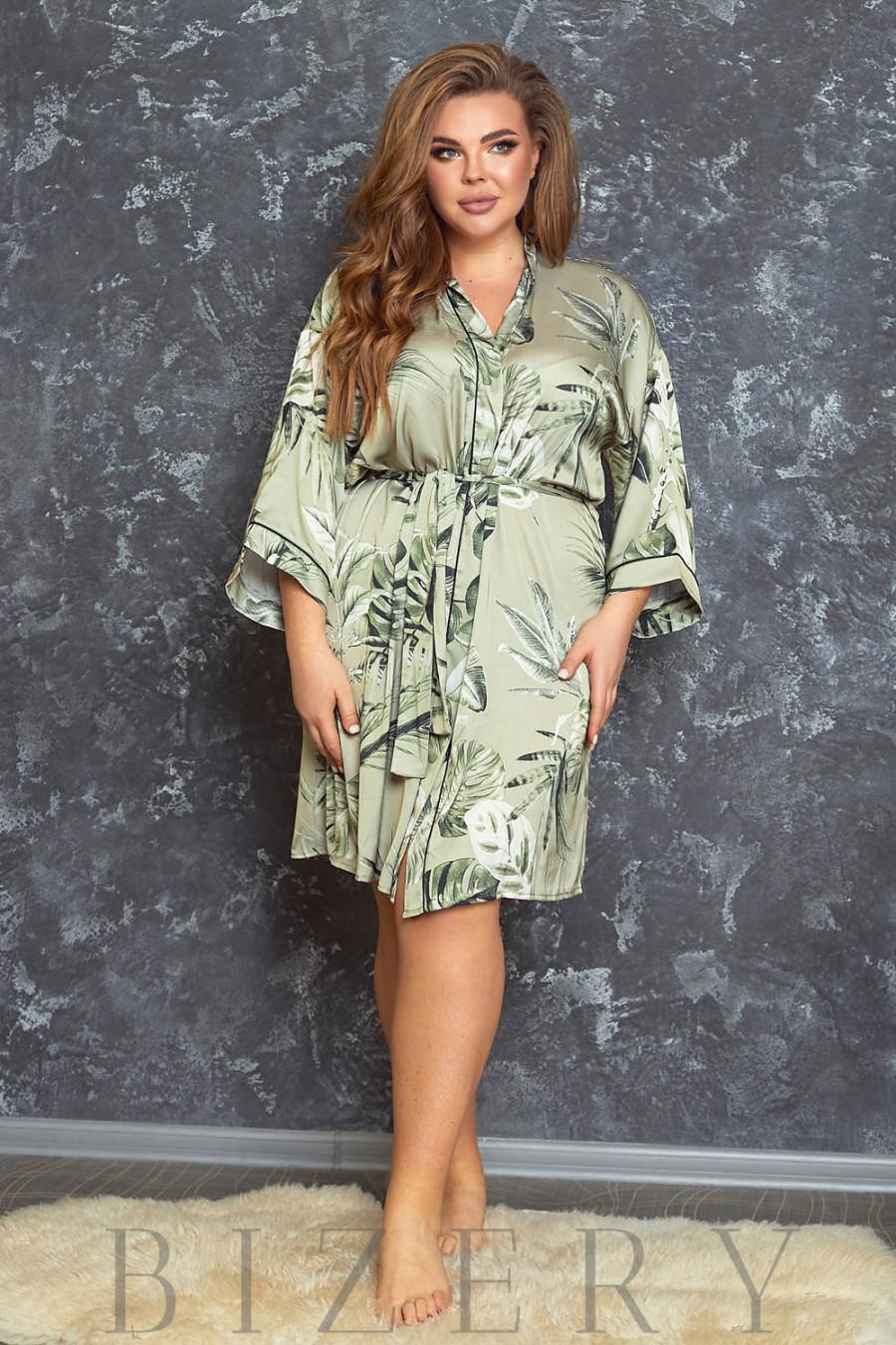 Роскошный шёлковый халат В619