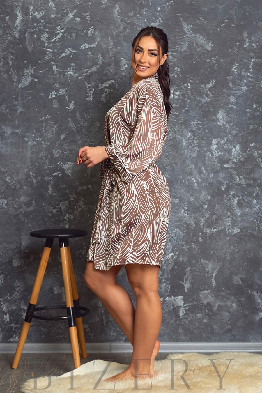 Роскошный шёлковый халат В620