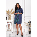 Платье свободного кроя в синей расцветке B406