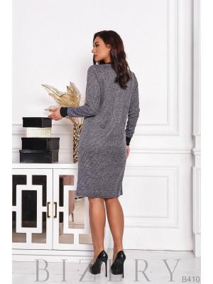 Платье с декоративными молниями B410
