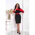 Платье черно-красной расцветки B415