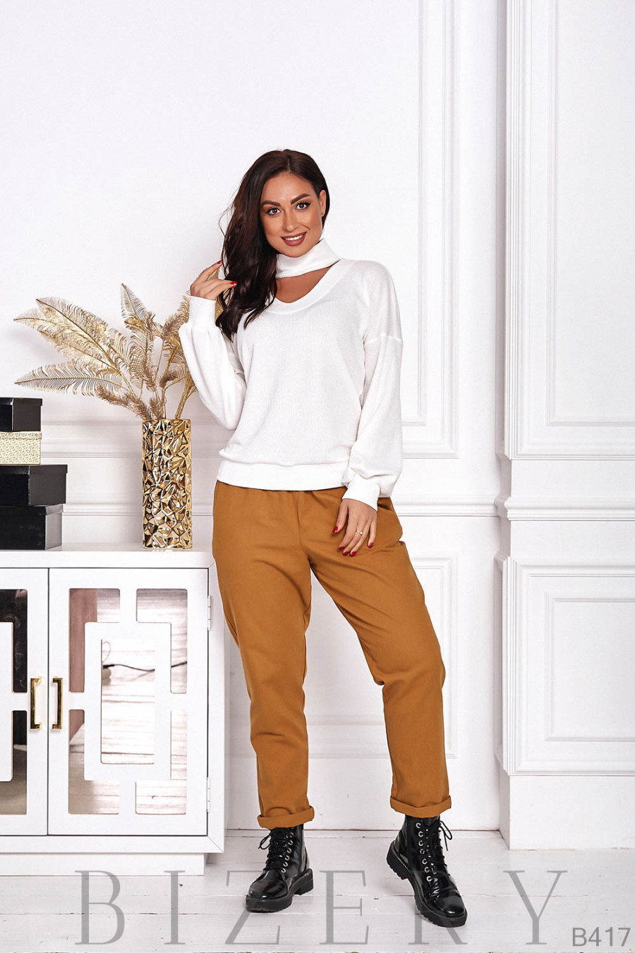 Стильные джинсовые брюки B417