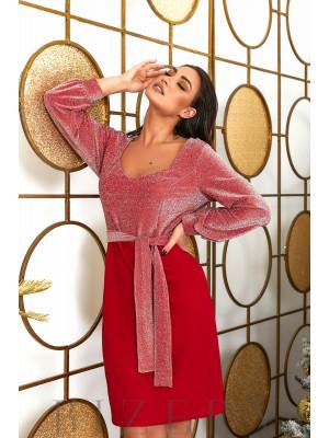 Вечернее платье в красном цвете B489