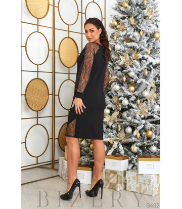 Платье в чёрном цвете B492