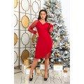 Платье в красном цвете B493