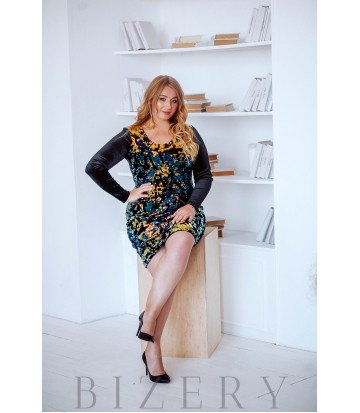 Шикарное вечернее платье с пайеткой B413