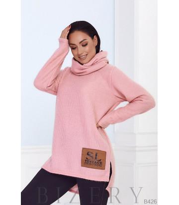 Женский костюм  с хомутом в розовом цвете B426
