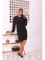 Коктейльное платье в чёрном цвете B432