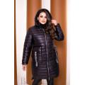 Удлинённая черная курточка B1147