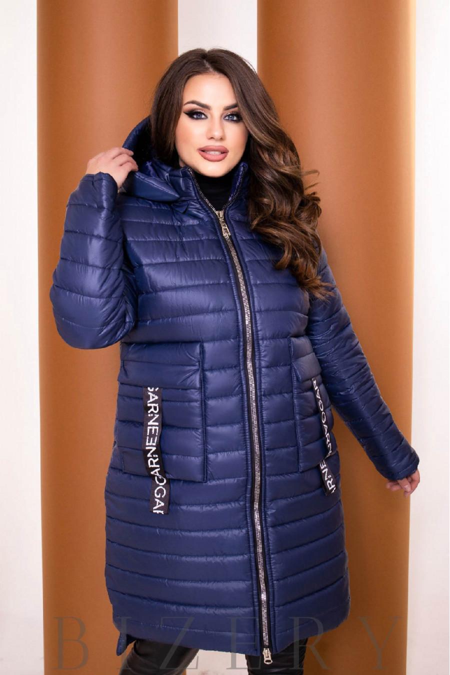 Удлинённая синяя курточка B1149