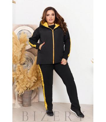 Женский костюм-тройка с жилеткой цвет черный B1200