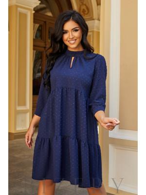 Платье А-силуэта в синем цвете B1076