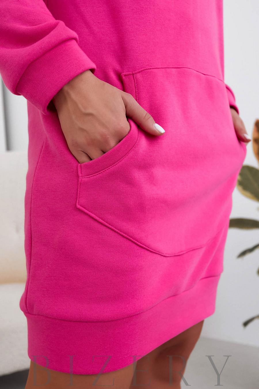 Платье-худи в малиновом цвете B1101